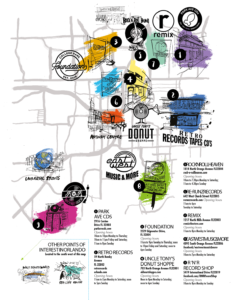 Long Live Vinyl Orlando Record Store Map
