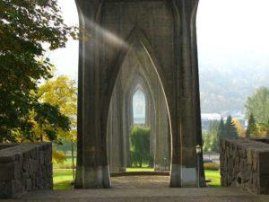 Cathedral Park Bridge Arches - Portland Oregon