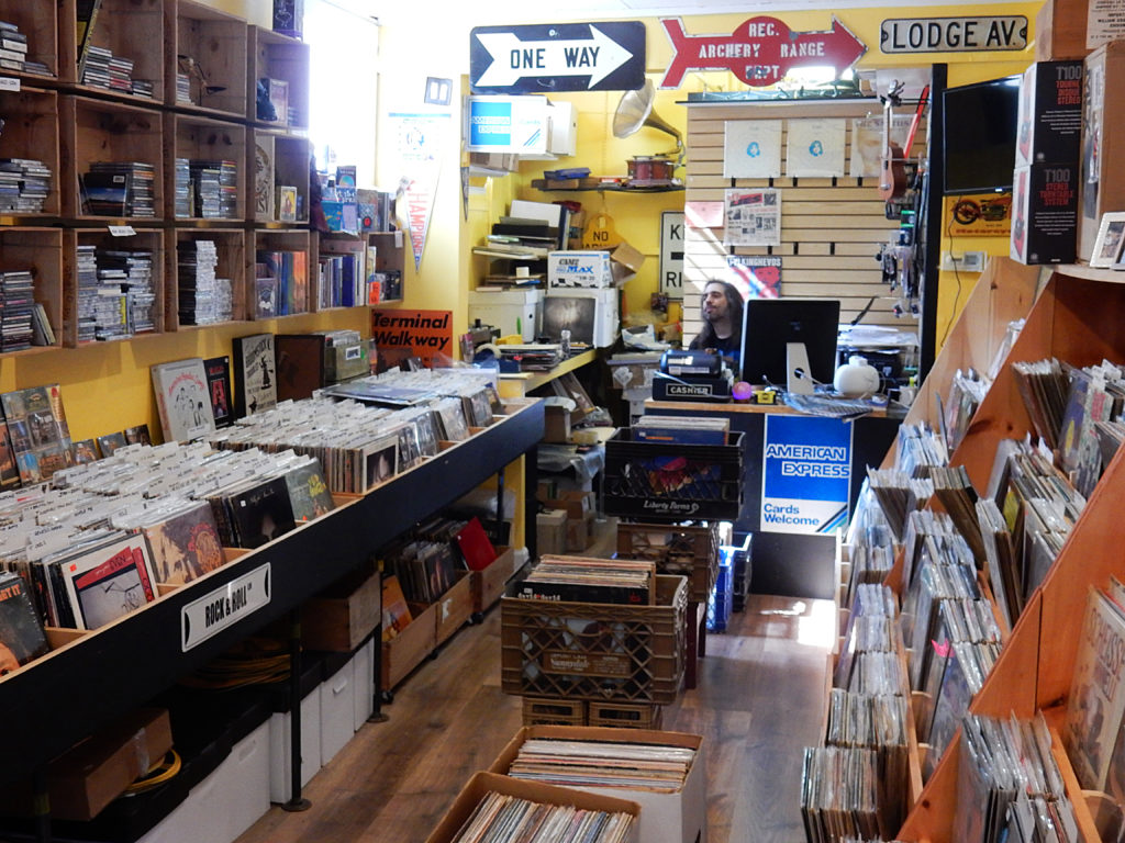 Record Reserve - Northport (Long Island) New York - store interior