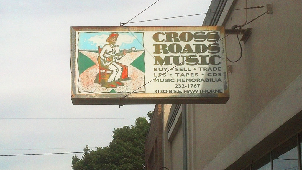 Crossroads Music Portland Oregon store front at Hawthorne